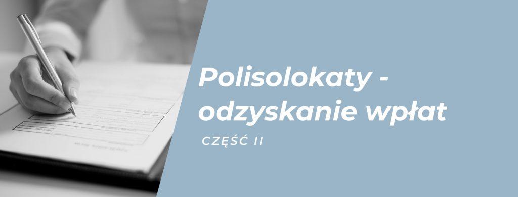 Polisolokaty i odzyskanie środków.