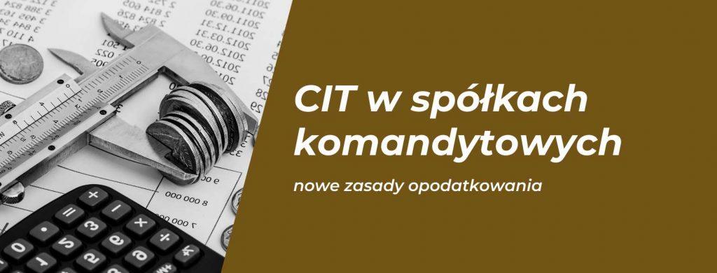 CIT w spółkach komandytowych